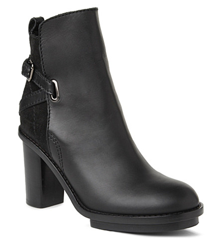 ACNE Cypress leather and suede ankle boots (Black