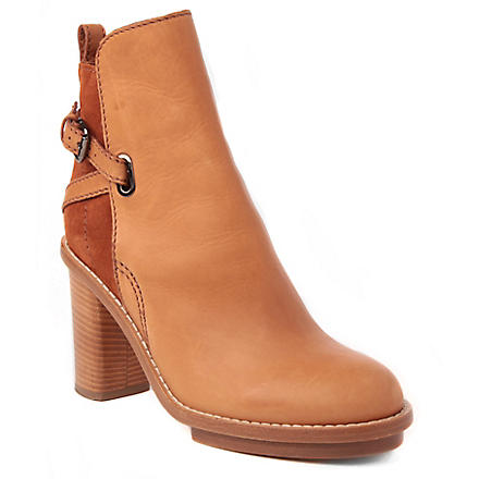 ACNE Cypress leather and suede ankle boots (Tan