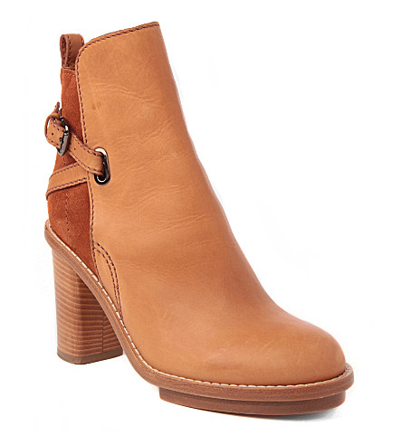 ACNE STUDIOS Cypress leather and suede ankle boots (Tan