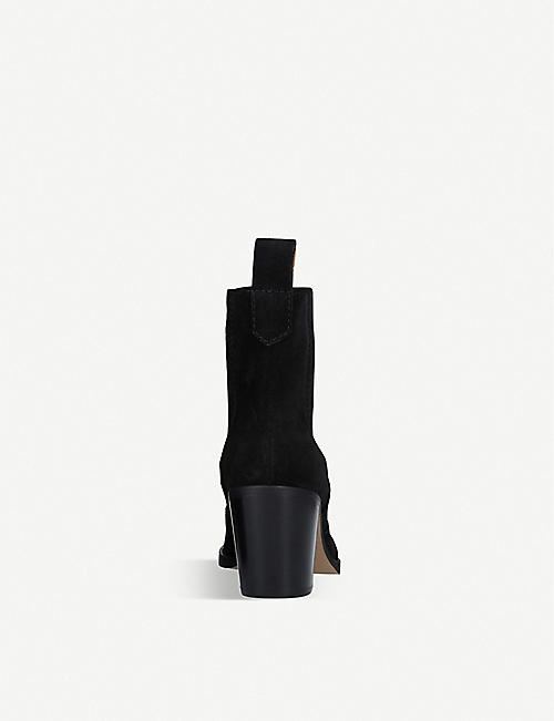 GANNI Western leather heeled ankle boots