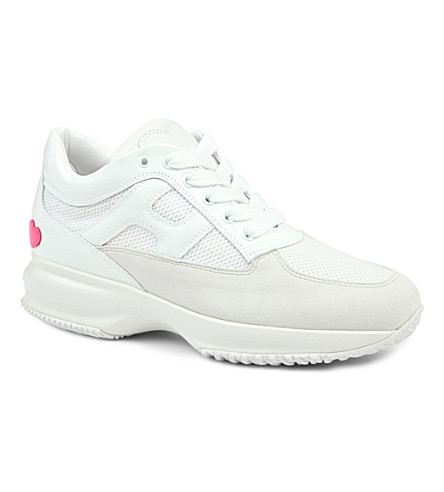 HOGAN KATIE GRAND COLLECTION Interactive leather trainers (White