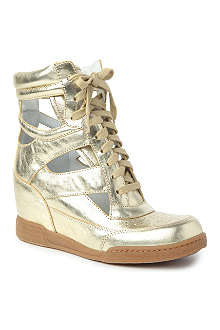 MARC BY MARC JACOBS Kisha metallic wedge trainers