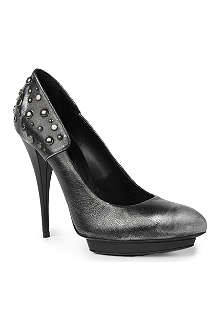 MCQ ALEXANDER MCQUEEN Biker stud leather courts