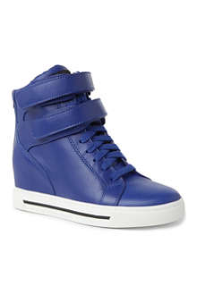 MARC BY MARC JACOBS Leather wedge trainers