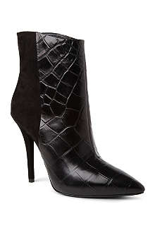 B BY BRIAN ATWOOD Djuna suede and mock-croc ankle boots