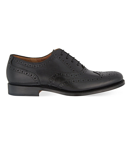 GRENSON Martha lace up brogues (Black