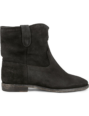 ISABEL MARANT Crisi suede concealed wedge ankle boots