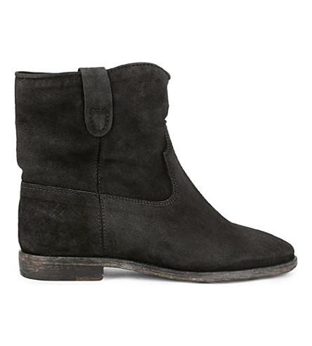 ISABEL MARANT ETOILE Crisi suede concealed wedge ankle boots (Black