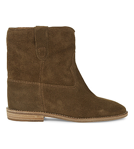 ISABEL MARANT Crisi suede concealed wedge ankle boots (Brown