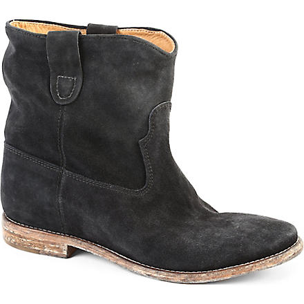 ISABEL MARANT Crisi suede ankle boots (Pewter