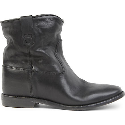 ISABEL MARANT Cluster leather ankle boots (Black