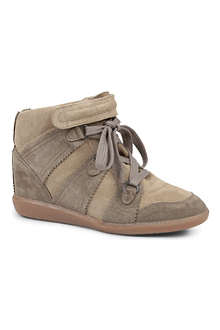 ISABEL MARANT Bluebel suede wedge trainers
