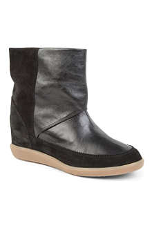 ISABEL MARANT Nuty suede and leather ankle boots