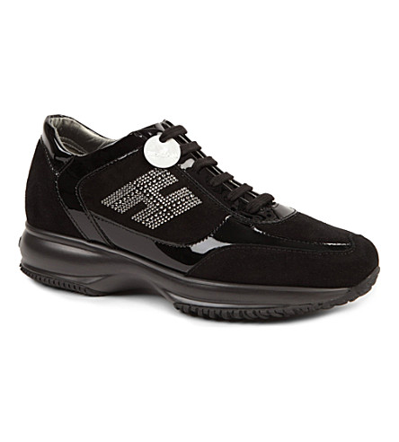 HOGAN Interactive embellished trainers (Black