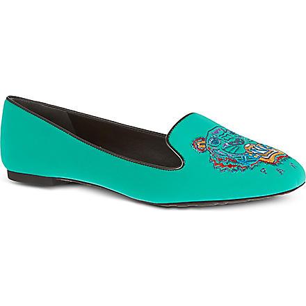 KENZO Brenda tiger slippers (Green
