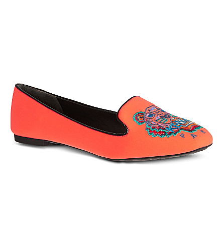 KENZO Brenda tiger slippers (Orange