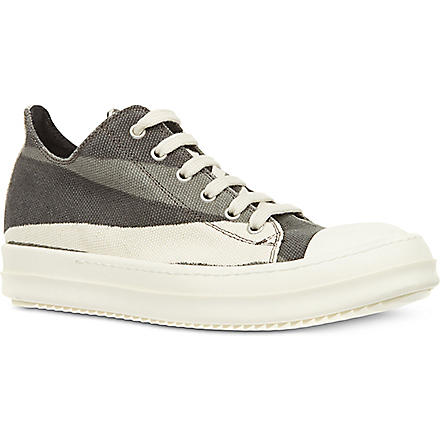 DRKSHDW Hannah striped low top trainers (Grey/other