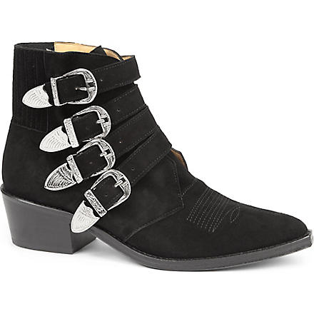 TOGA Lorna suede ankle boots (Black