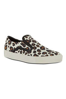 MOTHER OF PEARL Achilles leopard print plimsoles