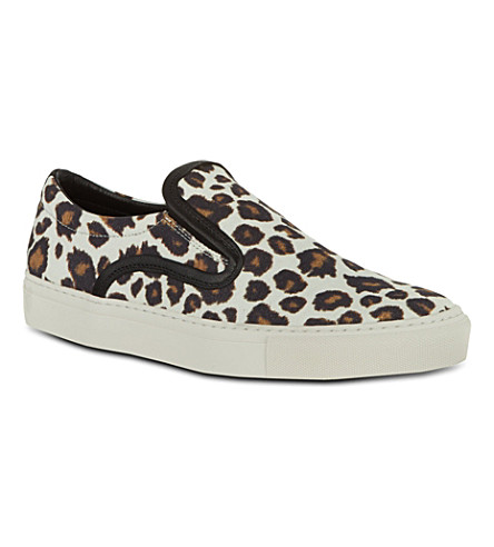 MOTHER OF PEARL Achilles leopard print plimsoles (Brown/oth