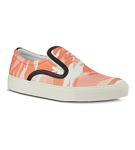 MOTHER OF PEARL Achilles camo plimsoles (Orange