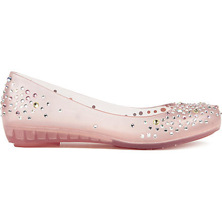 MELISSA Translucent diamante pumps (Champagne