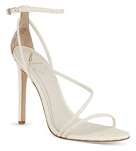 B BY BRIAN ATWOOD Labrea snakeskin heeled sandals (White