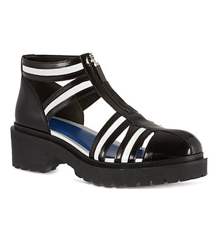 KENZO Kezia patent sandals (Blk/white