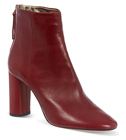 ISABEL MARANT Agora leather ankle boots (Red