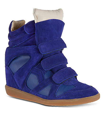 ISABEL MARANT Burt suede high tops (Blue