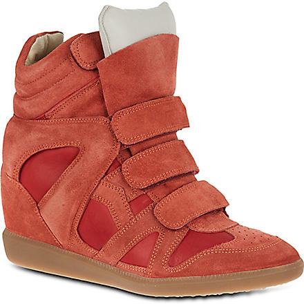 ISABEL MARANT Burt suede high tops (Orange