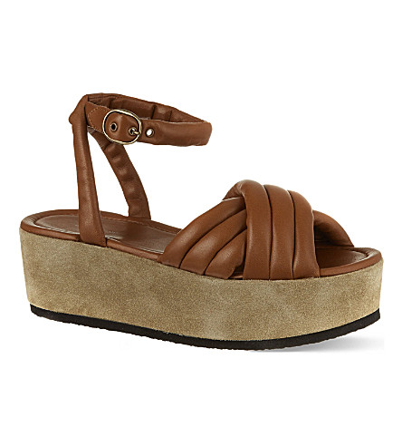 ISABEL MARANT Hayley leather sandals (Brown