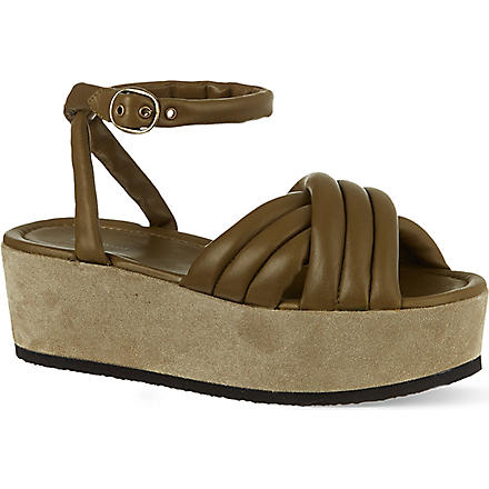 ISABEL MARANT Hayley leather sandals (Khaki
