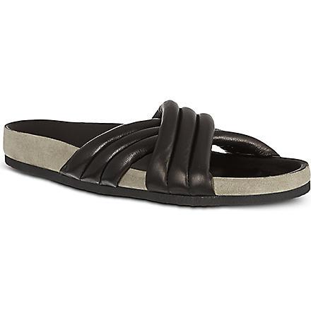 ISABEL MARANT Holden cross-over sandals (Black
