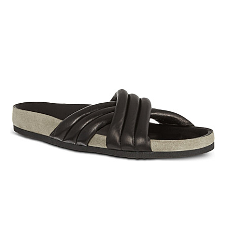 ISABEL MARANT Holden cross-over sandals (Black