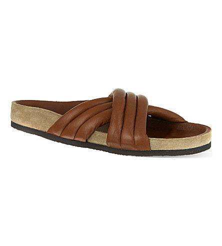 ISABEL MARANT Holden leather sandals (Brown