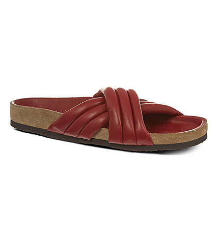 ISABEL MARANT Holden leather sandals (Wine