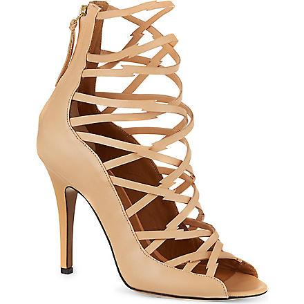 ISABEL MARANT Paw leather sandals (Beige