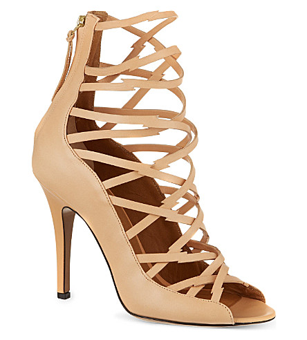 ISABEL MARANT Paw leather sandals (Beige
