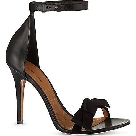 ISABEL MARANT Play leather sandals (Black