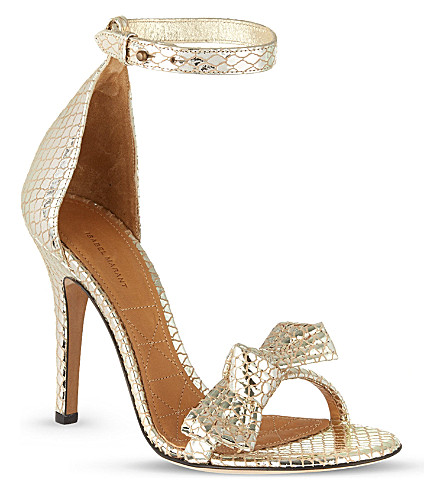 ISABEL MARANT Play metallic sandals (Gold