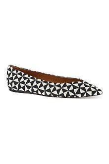 ISABEL MARANT Plumy pointed ballet flats