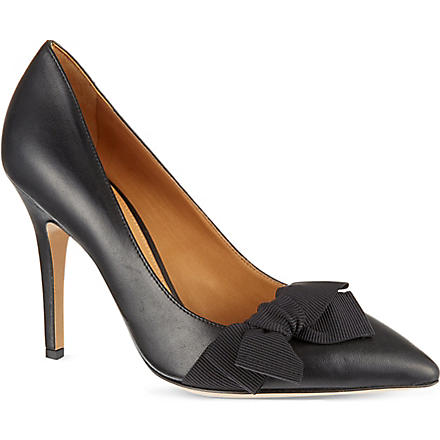 ISABEL MARANT Poppy leather courts (Black