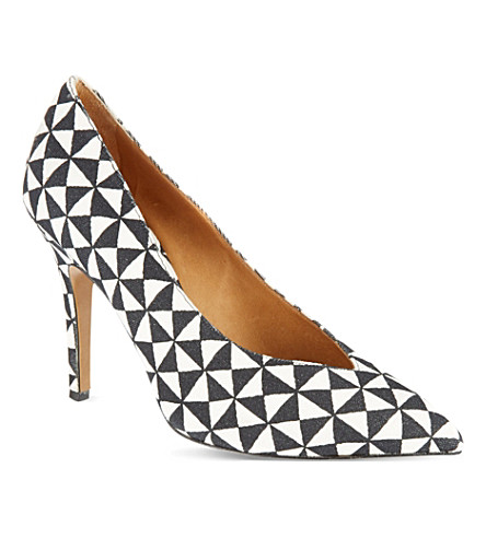 ISABEL MARANT Prissy canvas courts (Blk/white