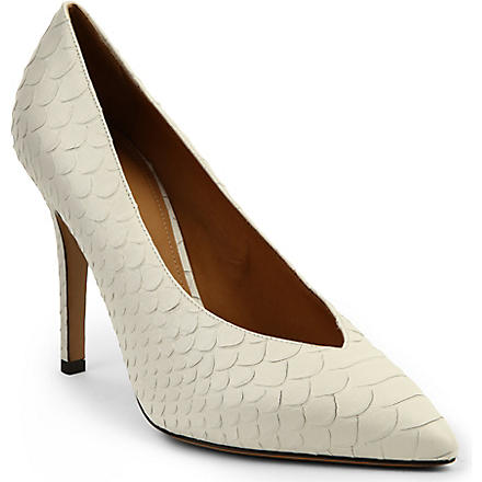 ISABEL MARANT Prissy leather courts (White