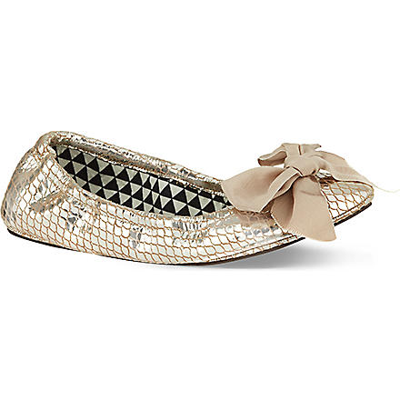 ISABEL MARANT Rilla metallic leather pumps (Gold