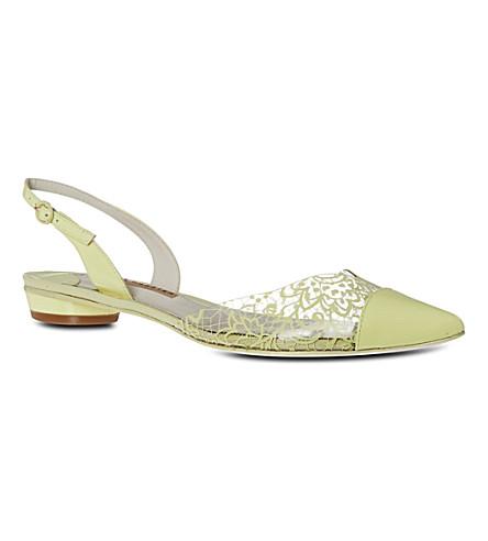 SOPHIA WEBSTER Bibi lace flat sandals (Yellow