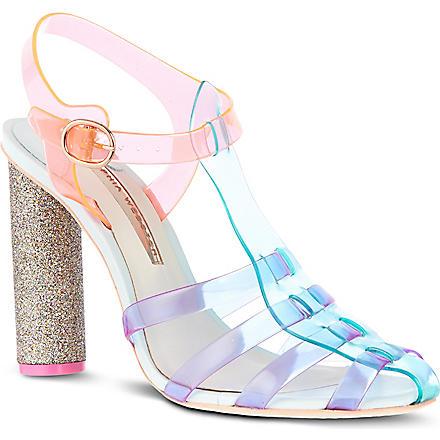 SOPHIA WEBSTER Rosa fluorescent sandals