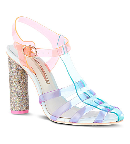 SOPHIA WEBSTER Rosa fluorescent sandals