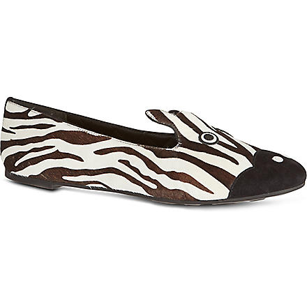 MARC BY MARC JACOBS Zebra slip on shoes (Blk/white